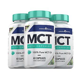 MCT Oil Keto Capsules 100% Pure MCT Oil - 180 Capsules - MCT Oil Capsules - Evolution Slimming