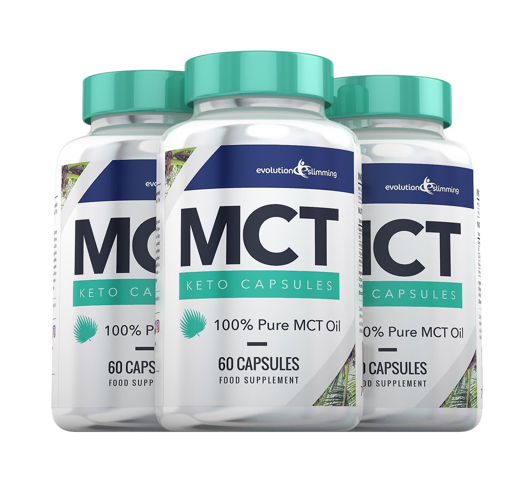 MCT Oil Keto Capsules 100% Pure MCT Oil - 180 Capsules - MCT Oil Capsules - Evolution Slimming