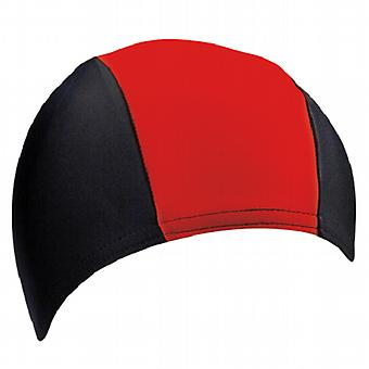 BECO 80 % Polyester / 20 % élasthanne tissu adultes nagent Cap - Rouge/noir