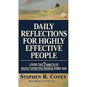 Daglige overvejelser for meget effektiv mennesker: Living de 7 vaner af yderst effektive mennesker hver dag (en fireside bog)