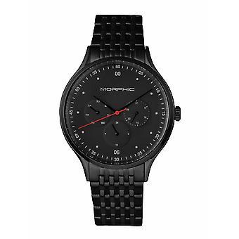 Morphic M65 Series Bracelet Watch w/Day/Date - Black