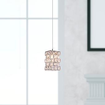 Hängande Chrome taklampa vardagsrum lampa 1 hänge runda kapellet helt nya