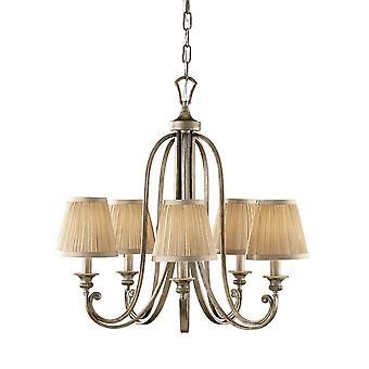 Abbaye Silver sable cinq léger lustre - Elstead éclairage Fe / FE/ABBEY5