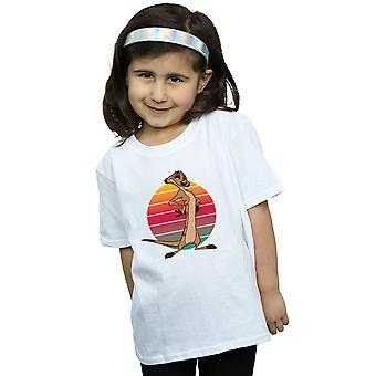 Disney Mädchen das Lion King Timon Sunset T-Shirt