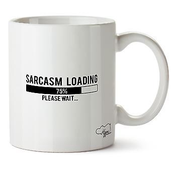 Hippowarehouse sarcasmo carregando, por favor, espere impresso caneca copo cerâmico 10oz