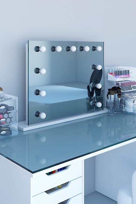 Diamond X Table Top Hollywood Makeup Mirror avec LED h95scw