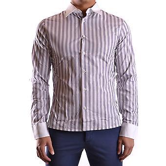 Bikkembergs Ezbc101020 Men's White Cotton Shirt
