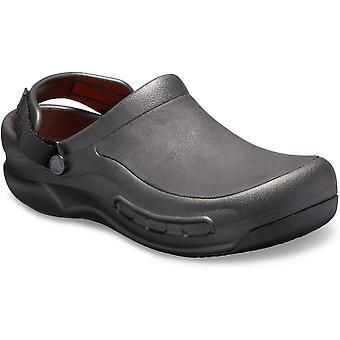Crocs Mens Bistro Pro Literide kevyt slip on puukengät