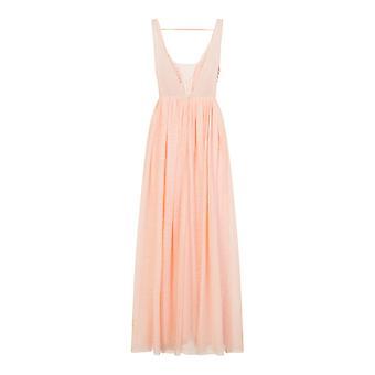 Little Mistress Womens/Ladies Tulle Open Back Maxi Dress
