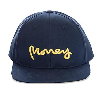 Boys Money Black Label Cap In Navy- Tonal Upper- Button To Top- Perforations