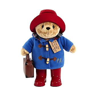 Classic Paddington Bear Plush Toy with Boots and Suitcase