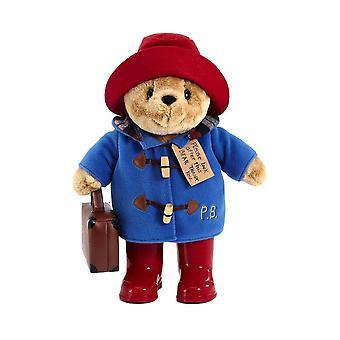 经典帕丁顿熊毛绒玩具与靴子和手提箱