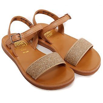 Pom D' API Plagette spänne Tao sandal, Camel/Dore
