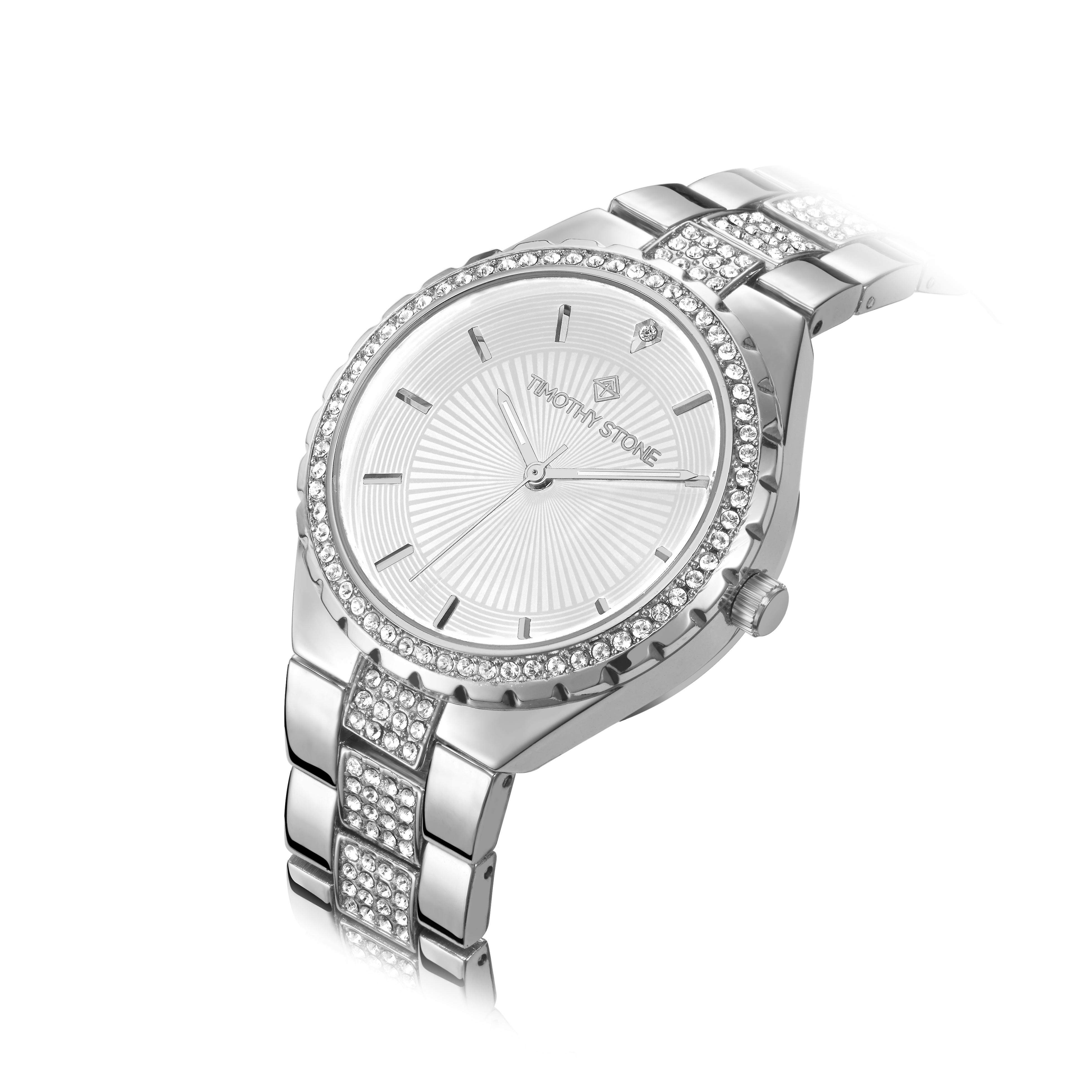 Timothy Stone Women's GALA Silver and White Watch