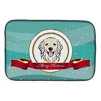 Carolines Treasures BB1515DDM kultainen noutaja hyvää joulua lautasen kuivaus matto