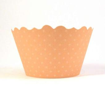 Swift Basics Peach Cupcake Wrapper, Pack of 12