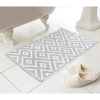 Country Club Kina Bath Mat, Grey