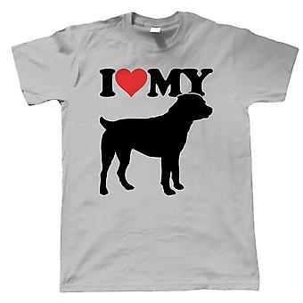 I Love My Rottweiler Camisetas para Hombres Crufts Dog Show Kennel Club Pedigree Breed Puppy Regalo de perro piel bebé amante propietario hombres mejor amigo Los perros le regalan a papá