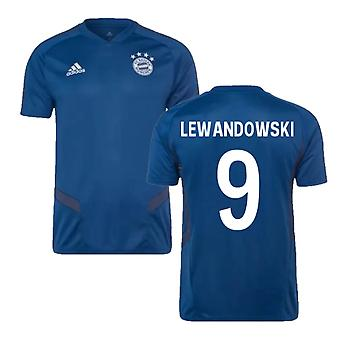 2019-2020 Bayern Munich Adidas Training Shirt (Night Marine) (LEWANDOWSKI 9)