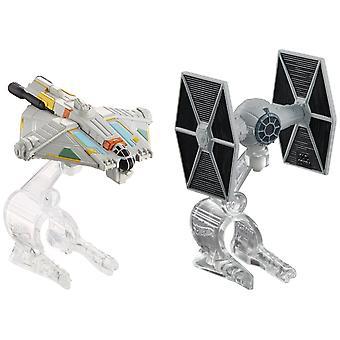 Hot Wheels Star Wars sterrenschepen rebellen Ghost vs. TIE Fighter 2-Pack