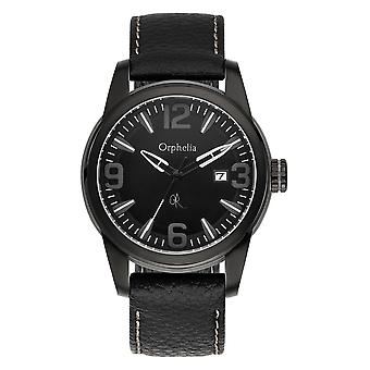 ORPHELIA Mens Analogue Watch East End Black Leather 132-6711-44