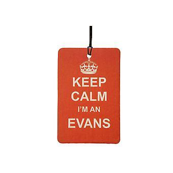 Mantenga calma soy un ambientador de aire Evans