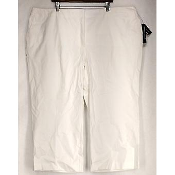 Alfani Plus Pantalon Cropped Tummy Control Waist White Womens