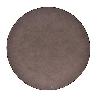 Coaster Cuir/Leather Look Grey Round 4-Pack Tablet