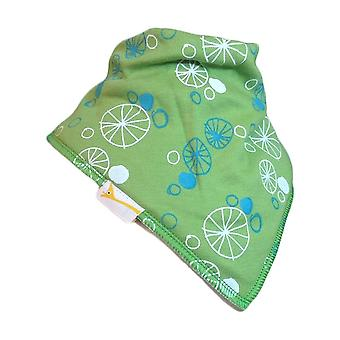 Green, white & blue wheels bandana bib