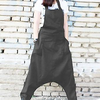 Backless Harem  Casual Drop-crotch  Overall Plus Size