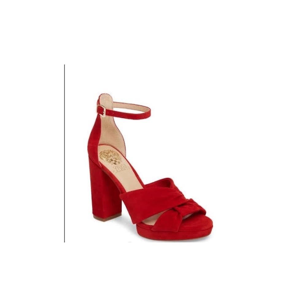 Vince Camuto kvinner Corlesta skinn peep toe spesiell anledning ankel stropp sa...