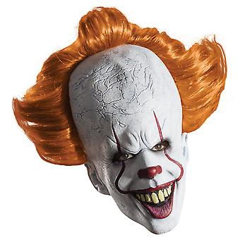 Pennywise IT The Movie Stephen King Horror Clown Men Costume Overhead Mask Hair