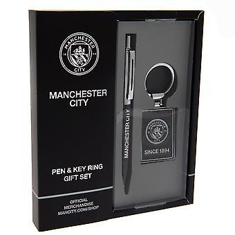 Manchester City FC Pen and Keyring Set