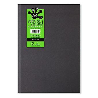 Artgecko tyylikäs Gecko A4 muoto kuva Casebound Sketchbook