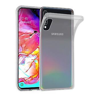 Cadorabo fallet för Samsung Galaxy A70 fall Cover-mobiltelefon fall tillverkad av flexibla TPU Silikon-silikonfodral skyddande fodral Ultra Slim soft tillbaka täcker fallet stötfångare