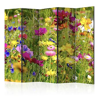 Paravent 5 volets - Summer Flowers II [Room Dividers]