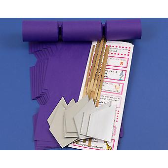 12 Rich Purple Make & Fill Your Own DIY Christmas Cracker Craft Kit