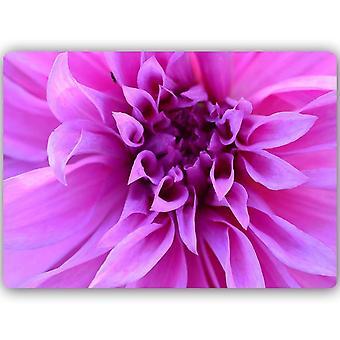 Metalen print, paarse bloem