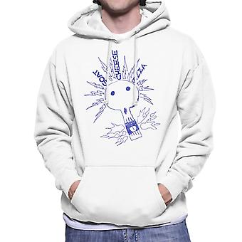 Zits Goats Cheese Pizza Electric Skull Men's Hooded Sweatshirt
