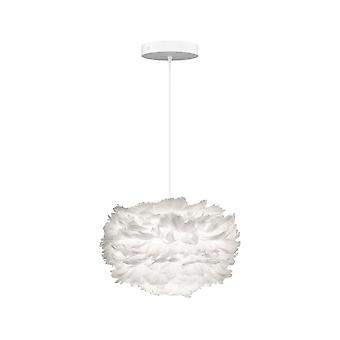 Umage Eos Feather Pendant Shade - White - Mini - 35cm With Black Rosette Cord Set