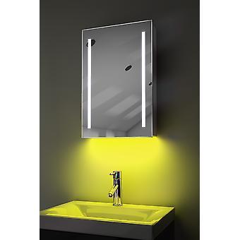 Schrank mit LED unter Beleuchtung, Sensor & interne Rasierer k348w muss