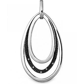 Quinn - Silver pendant with diamonds 0.05 ct - 0240209