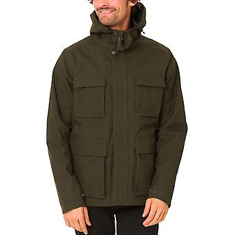 Animal Mens Domain Hooded Zipped Shower Resistant Jacket Coat Top - Olive Marl