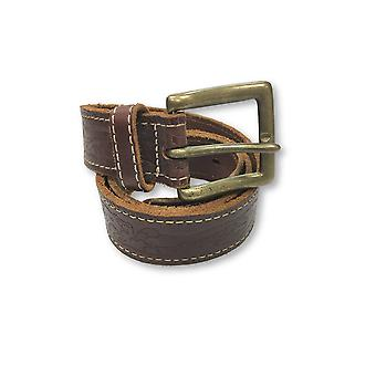 Agave leather belt in brown subtle pattern