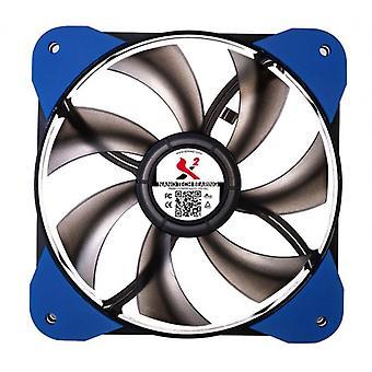 X2 lydløs ventilator 120 x 25mm