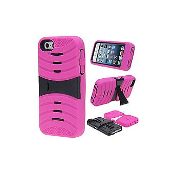Ultra Resistant Pink Hull With Black TV Support For Apple IPhone 5