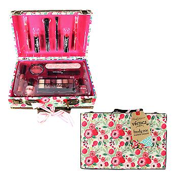 Body Collection Vintage Bouquet Filled Make Up Beauty Case