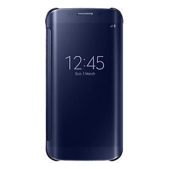Samsung EF-ZG925BBEGWW Clear View Cover Case Black, G928 Galaxy S6 Edge