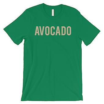 Avokado kirjaimet miesten vihreä T-paita