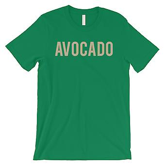 Avocado Letters Mens Green T-Shirt